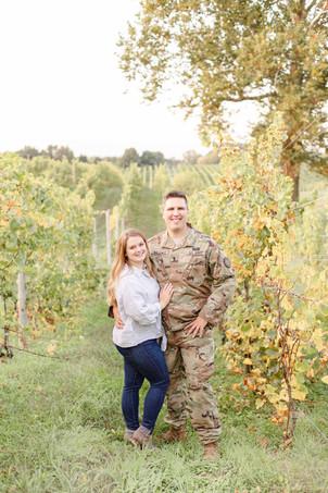 Engagement photos Round Barn Winery Baroda Michigan vineyard cute couple