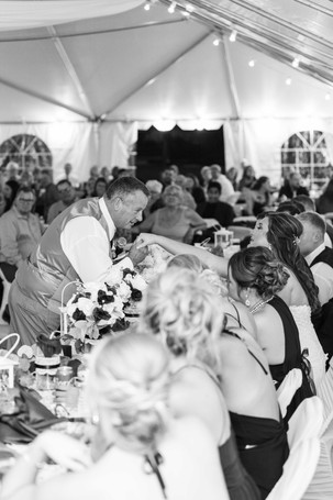 father of the groom and bride wedding American 1 event center Jackson michigan
