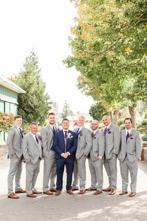 groom and groomsmen wedding American 1 event center Jackson michigan