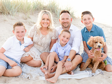A Yacht and Beachside Family Photo Shoot | New Buffalo, Michigan