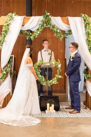 Bride and Groom Saint Patricks Park South Bend Indiana