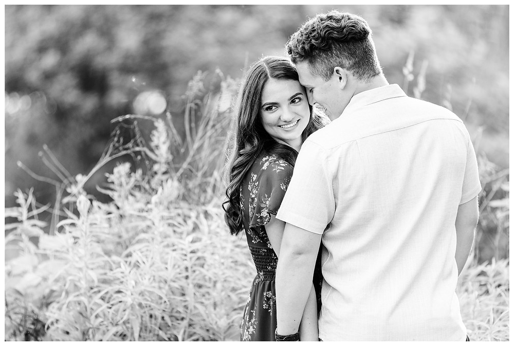 Josh and Andrea wedding photography husband and wife photographer team michigan pictures photo shoot Milham Park engagement pictures session photo shoot fiance