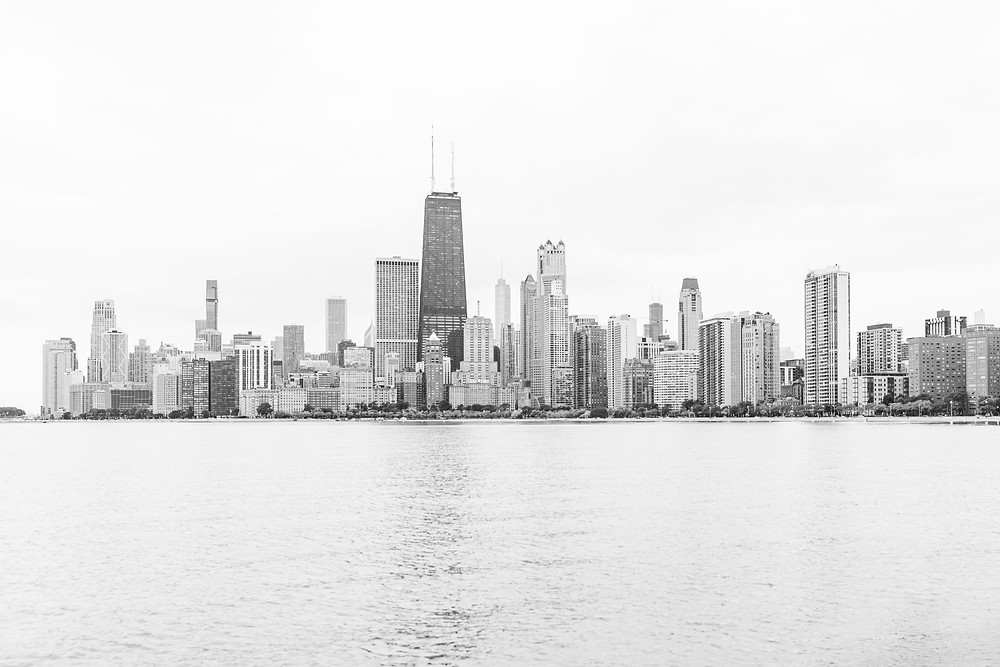 Josh and Andrea Photography buildings skyline Chicago