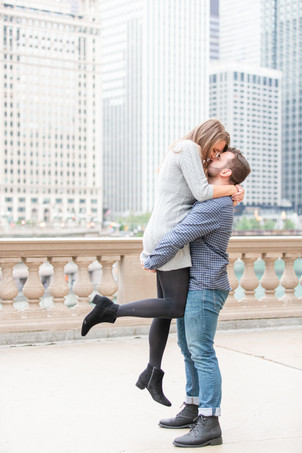 Josh and Andrea Photography Cute couple Chicago lifting kissing