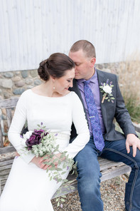 bride and groom hidden vineyard wedding barn Justin Alexander