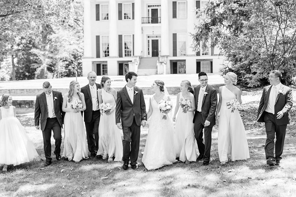Bridal Party Rose Hill Antebellum Lockerly Arboretum Milledgeville Georgia Wedding