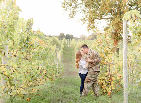 Emily + Josh | Round Barn Winery | Engagement Session | Baroda, MI