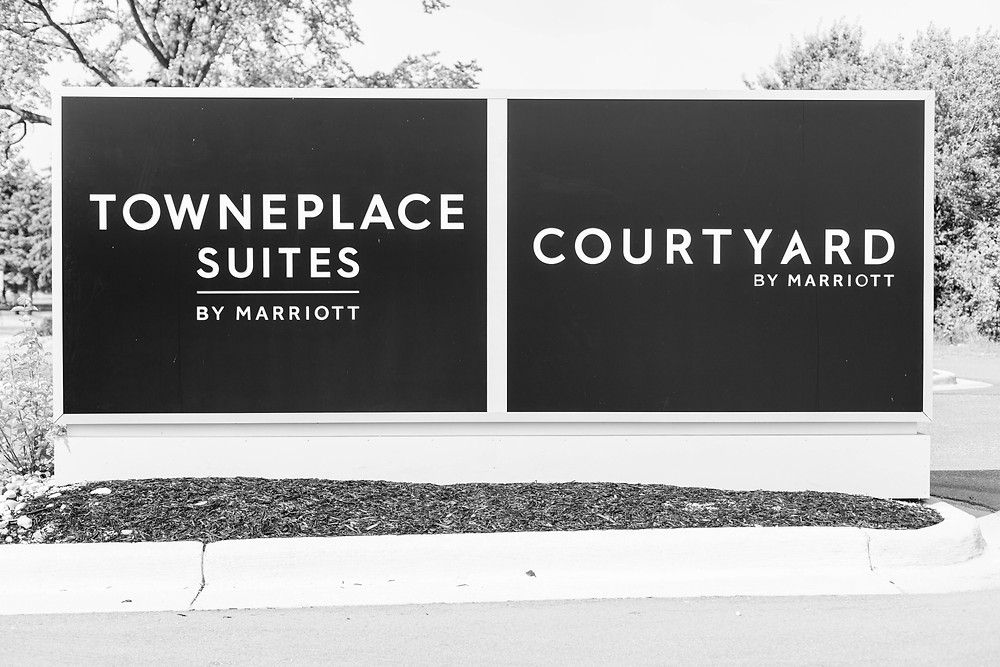 courtyard by Marriott sign wedding American 1 event center Jackson michigan