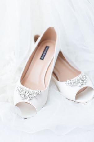 Bride details shoes wedding American 1 event center Jackson michigan