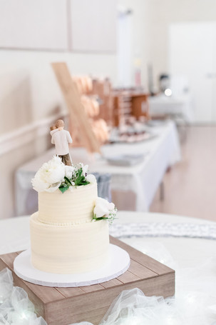 wedding cake and dessert table Milledgeville Georgia
