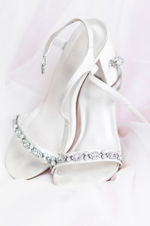 brides high heel shoes diamond and pearls davids bridal detail photo Milledgeville Georgia