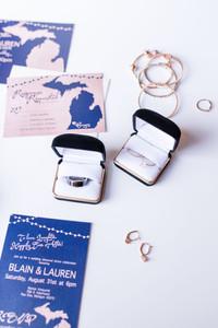 Wedding details rings and bracelets