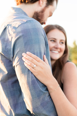 cute couple engagement photos ring hand