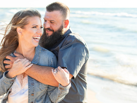 Jess and Chris | Beach Engagement Shoot | South Haven, Michigan