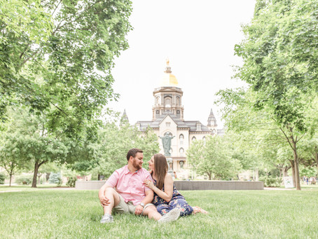 Stephanie + Will | Engagement | University of Notre Dame | South Bend, IN
