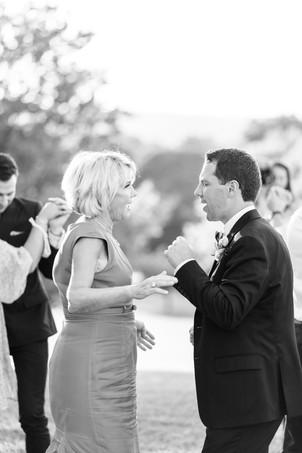 groom and mom dancing Kent Country Club Wedding Grand Rapids
