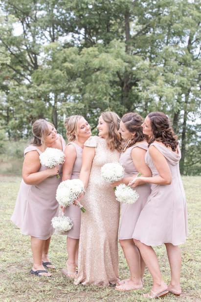 bride with bridesmaids south haven