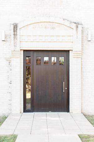 old building door journeyman distillery weddings three oaks michigan