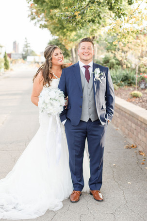 Bride and groom cute couple wedding American 1 event center Jackson michigan