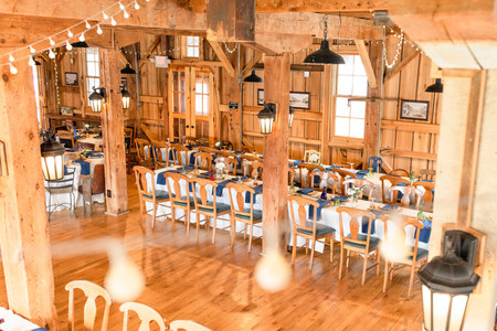 wedding venue wood bright clean
