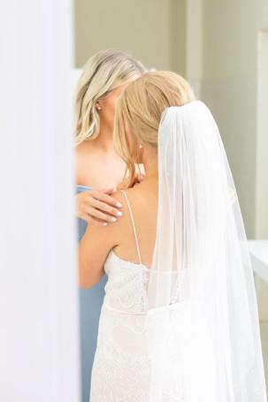 bride and bridesmaid Kent Country Club Wedding Grand Rapids