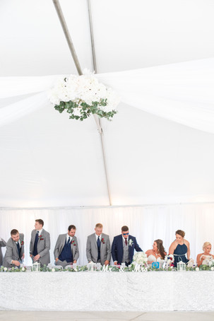 Bride and groom cute couple bridal party wedding American 1 event center Jackson michigan