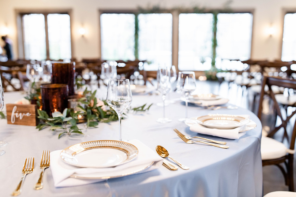 black river barn south haven table setting wedding