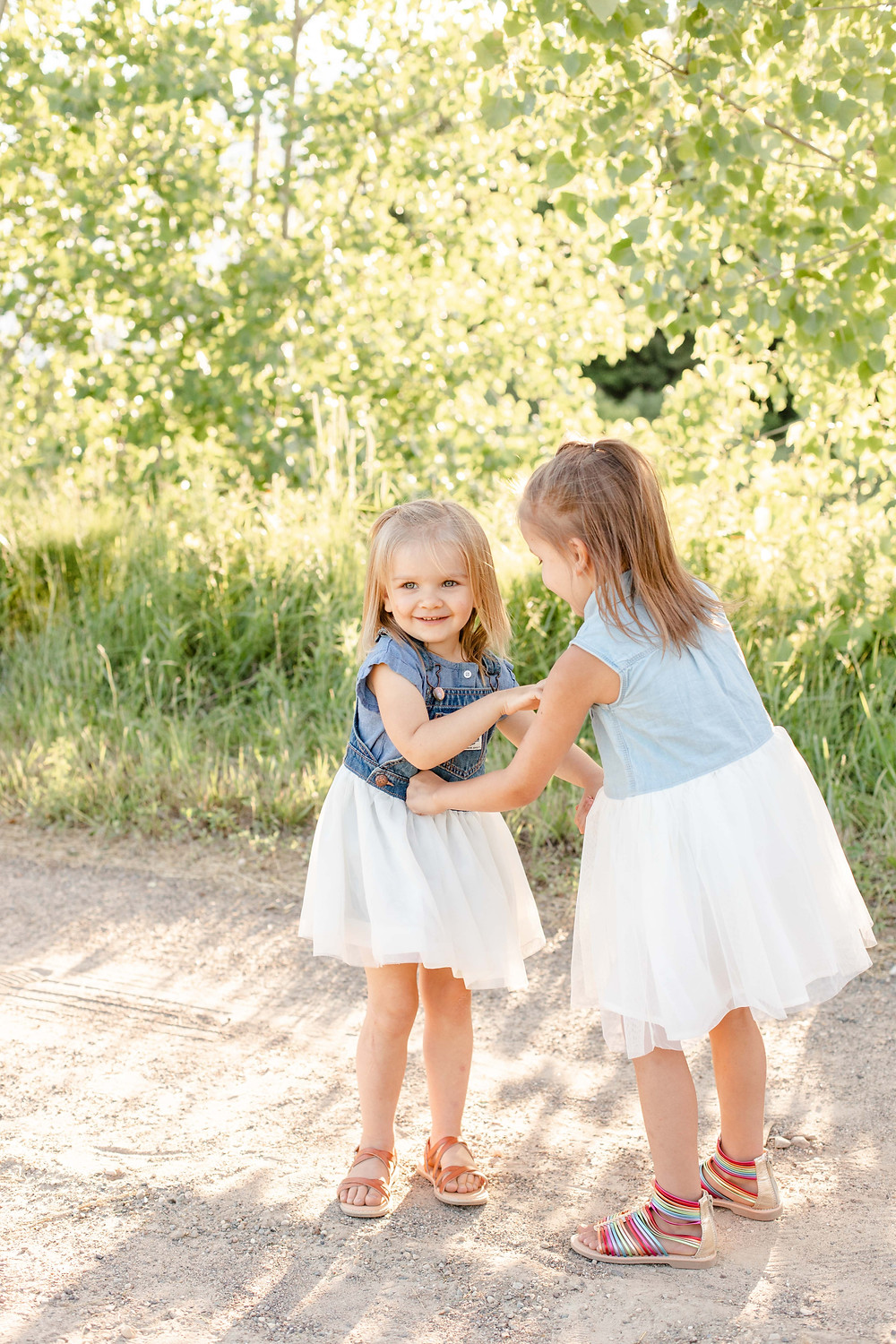 cute girls coordinating outfit engel farms photo shoot