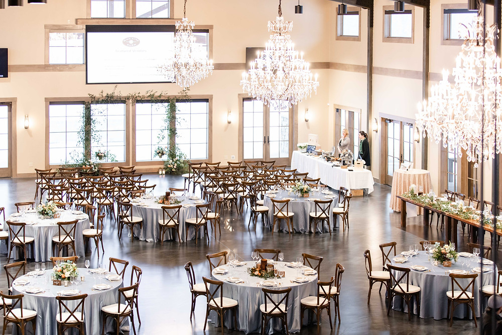 black river barn south haven wedding venue ballroom place setting