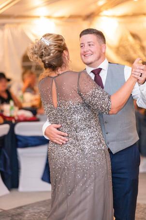 mom and groom dancing wedding American 1 event center Jackson michigan