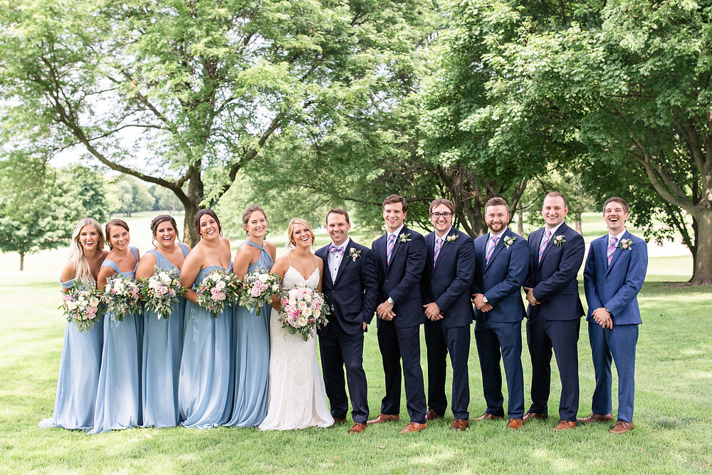 bridal party Kent Country Club Wedding Grand Rapids
