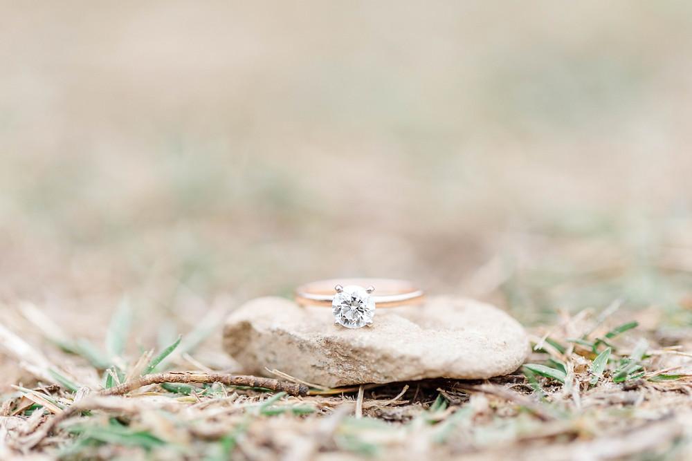 josh and Andrea photography husband and wife team michigan engagement photo shoot al sabo land preserve ring shot