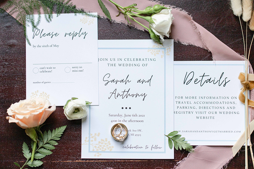 invitations in the details byron center truer design bridal suite