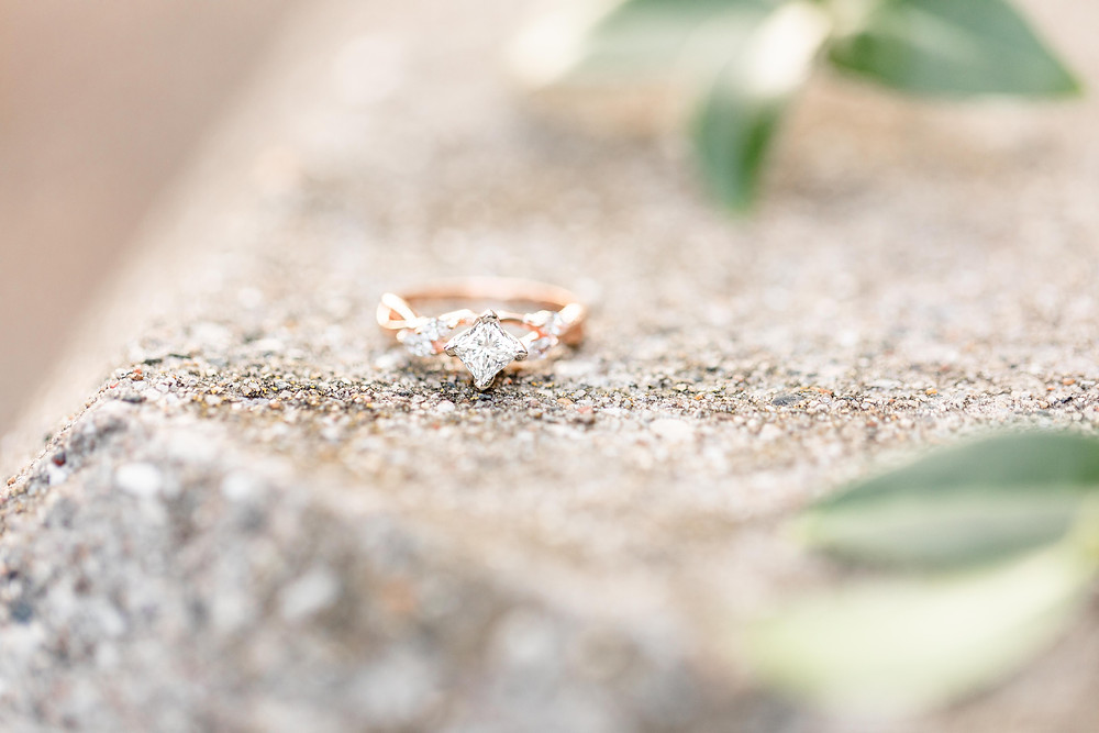 Engagement ring Tunnel Park Beach Holland Michigan