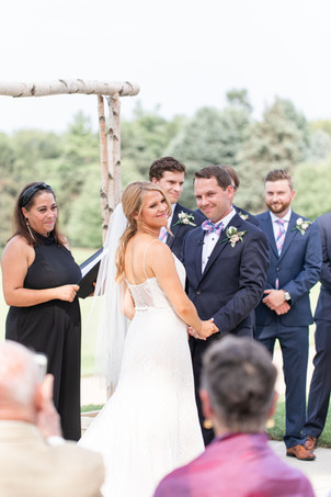 ceremony Kent Country Club Wedding Grand Rapids bride and groom