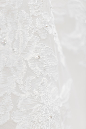 detail photo of lace and beading of wedding dress Milledgeville Georgia