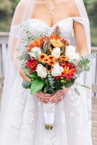 Bridal bouquet fall colors Saint Patricks Park South Bend Indiana