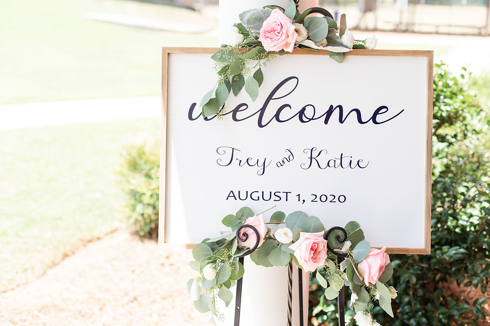 welcome wedding sign Milledgeville Georgia