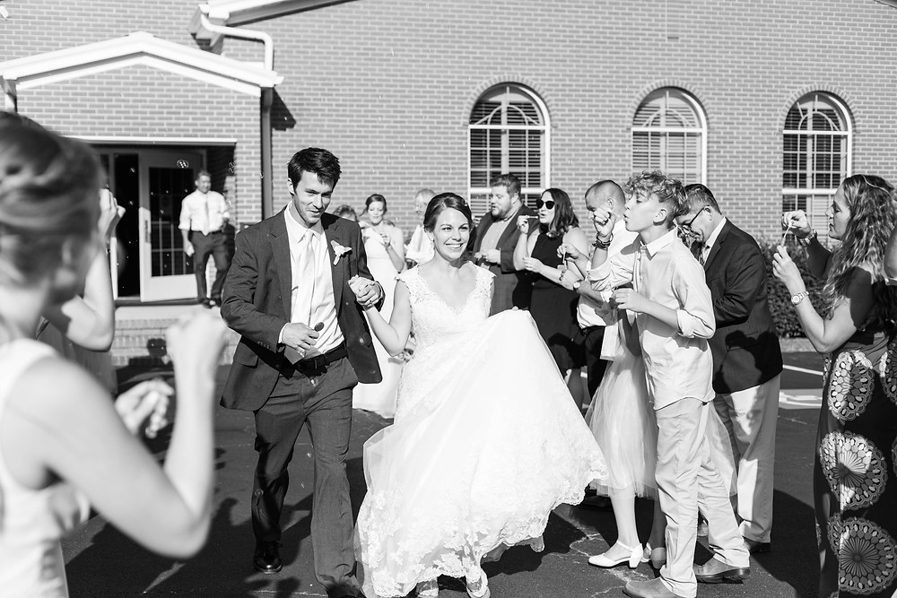 bride and groom get away exit bubbles Milledgeville Georgia