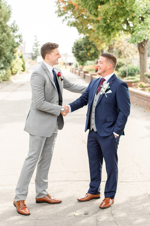 groom and groomsman wedding American 1 event center Jackson michigan