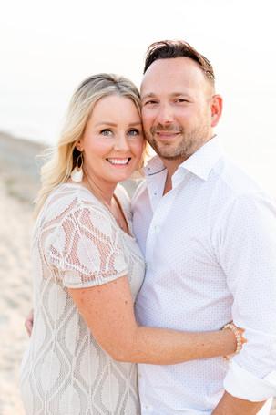 husband and wife couple photos beach Lake Michigan