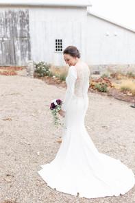 bride hidden vineyard wedding barn Justin Alexander