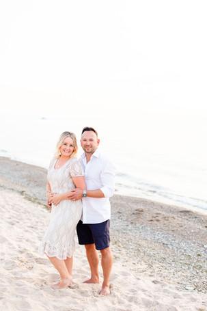 husband and wife photo beach Lake Mighigan