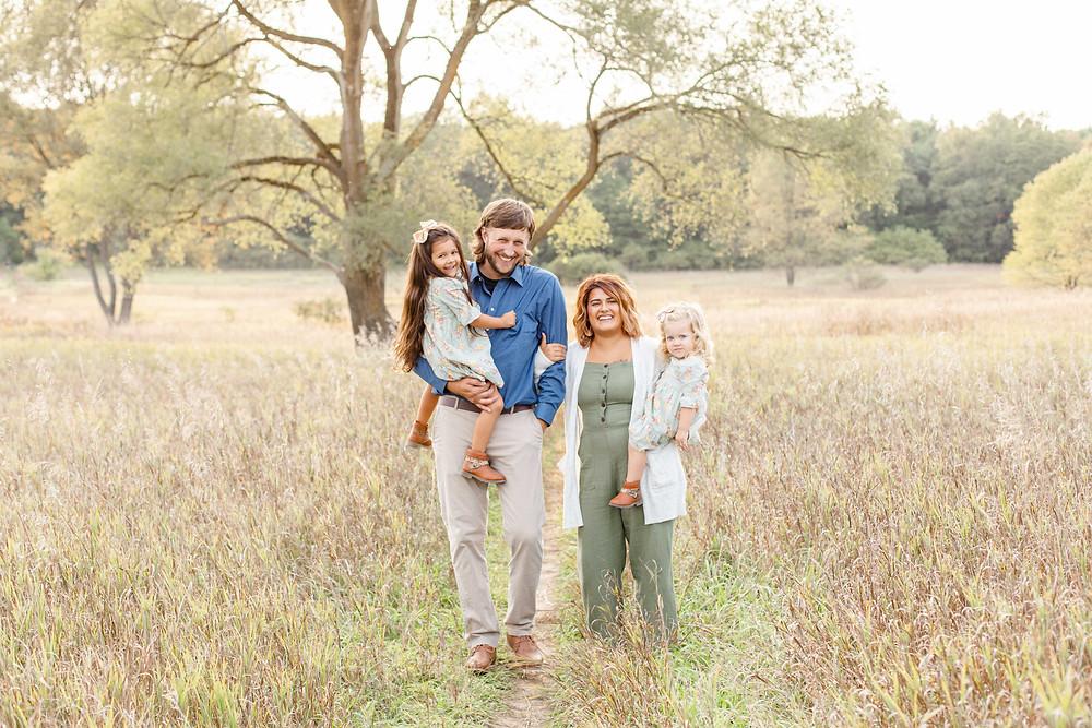 Family Photos Al Sabo Land Preserve Kalamazoo Michigan Open Field