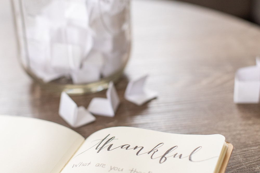 book thankful paper strips