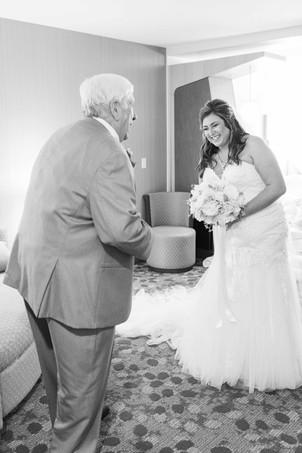 bride first look wedding American 1 event center Jackson michigan