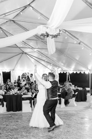 Bride and groom dancing cute couple wedding American 1 event center Jackson michigan