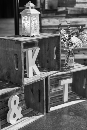 wooden crates with initial letters for wedding ceremony Milledgeville Georgia