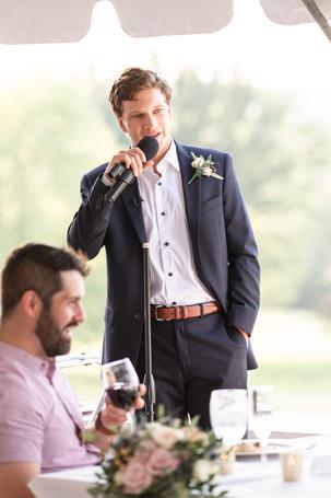 best mans speech reception Kent Country Club Wedding Grand Rapids