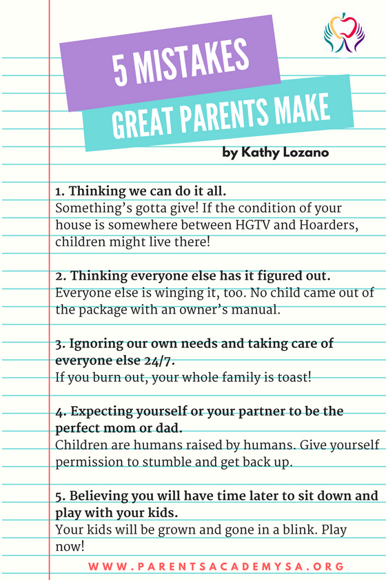 5 Mistakes Great Parents Make